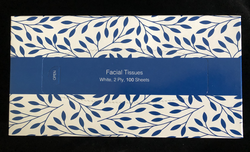 Facial Tissues - White, 2 Ply, 100 Sheets - Matthews