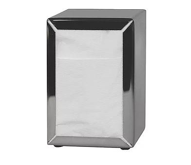 Costwise' Napkin Dispenser, Tall Fold, Stainless steel - Castaway