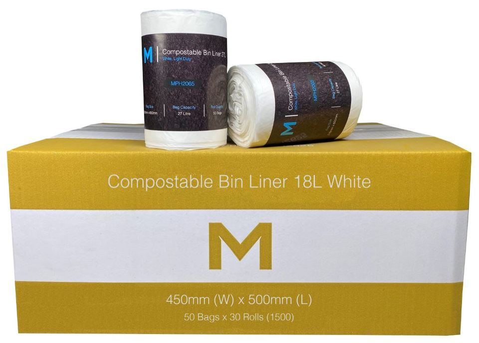 Bin Liner 18L White Compostable - Matthews