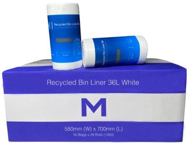 Bin Liner 36L White Peach Scent - Matthews