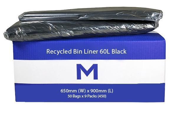 Rubbish Bag Bin Liner 60L Black - Matthews