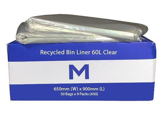 FP Recycled Bin Liner 60L Clear - Matthews