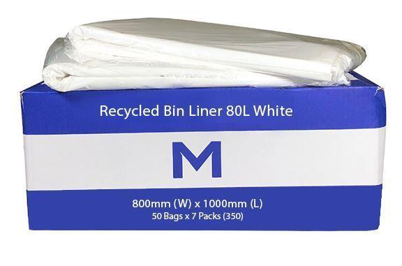 Bin Liner 80L White - Matthews