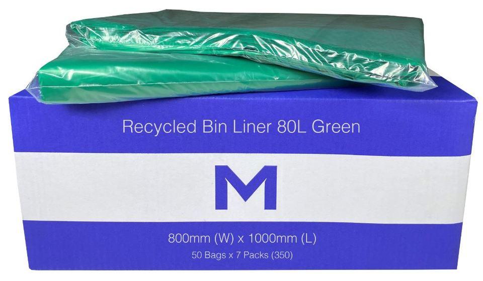 Bin Liner 80L Green - Matthews