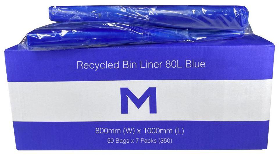 Bin Liner 80L Blue - Matthews
