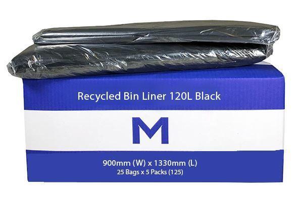 Bin Liner 120L Black  - Matthews