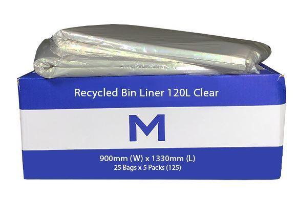 Bin Liner 120L Clear - Matthews