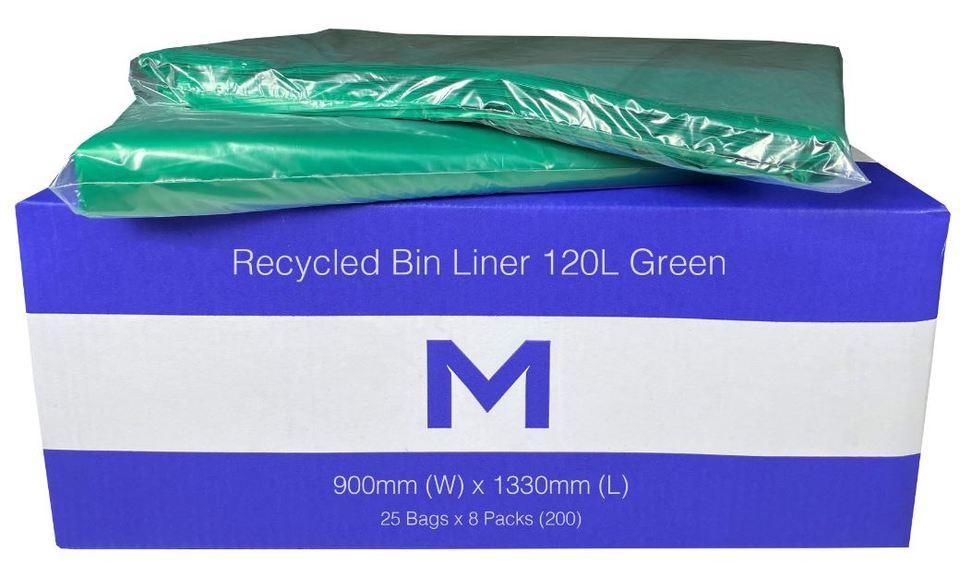 Bin Liner 120L Green - Matthews