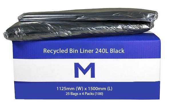 Bin Liner 240L Black - Matthews