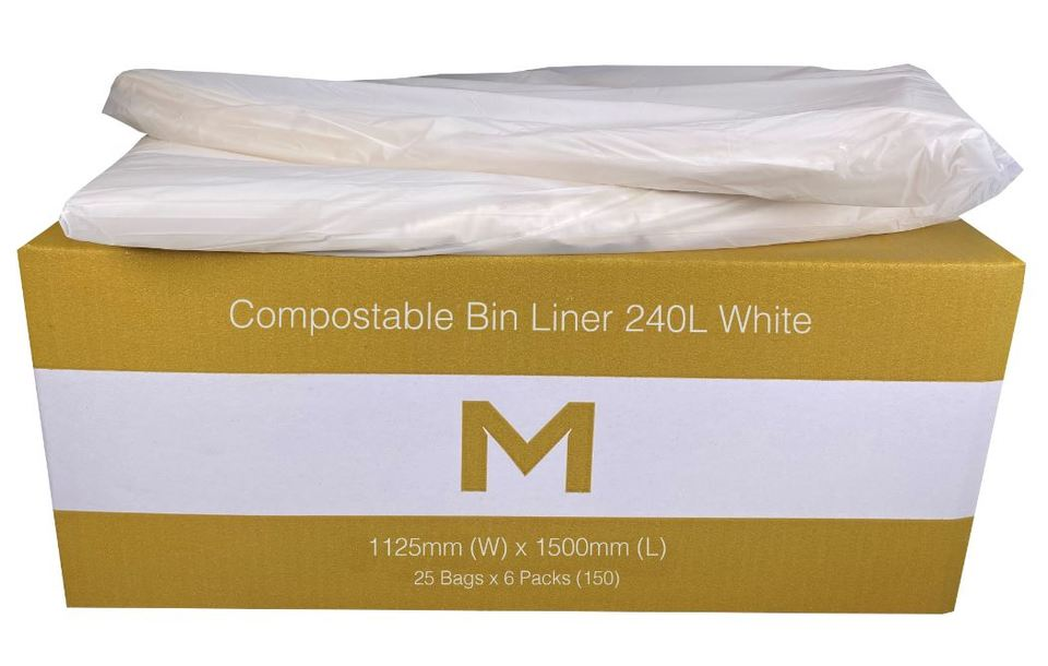 Bin Liner 240L Compostable White - Matthews