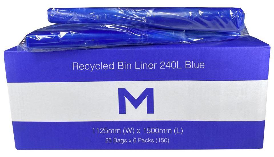 Recycled Bin Liner 240L Blue - Matthews