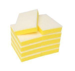 Non Scratch Scouring Sponge, Yellow/White, 100mm x 150mm x 30mm- Matthews