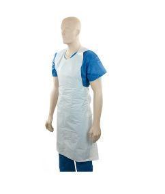 Polyethylene Back Tie Apron - White, 800mm x 1250mm x 40mu - Matthews