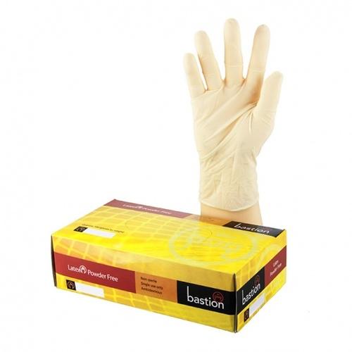 Latex Gloves PowderFree Box 100 - Bastion