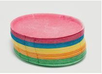 Plate Potatopak Oval Medium Mixed Colours 27 x 20 x 1 cm - Vegware