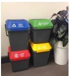 Bin Lid Dark Green for 35L & 45L stackable bin - Vegware