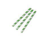 Straw 10 x 20cm PAPER green stripe - Vegware