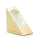 Box sandwich wedge 12 x 12 x 6cm wide kraft - Vegware