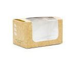 Box window 12.5 x 7.5 x 7cm high kraft - Vegware