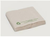 Serviette 1-ply unbleached 40 x 40cm dinner folded in 1/8 - Vegware