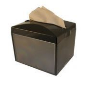 Dispenser black plastic for Serviette 1-ply 27 x 21cm folded in 1/4 - Free with 18 sleeve purchase - Vegware