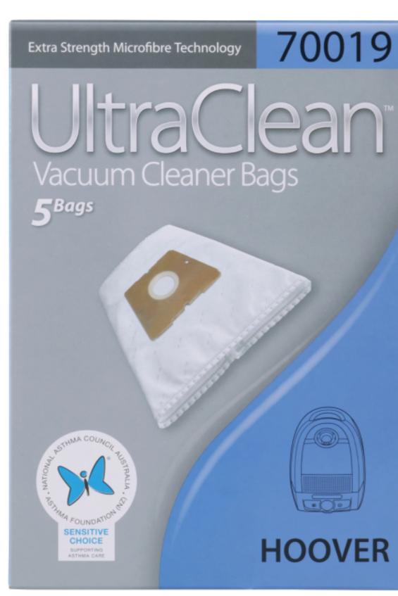 ULTRA CLEAN HOOVER MICROFIBRE VACUUM BAGS 5 PACK - Filta