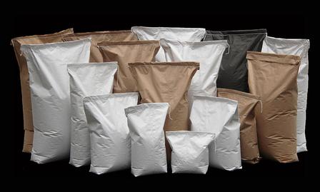 Multi-Wall Moisture Barrier Block Bottom Paper Bags 3ply 900x520+120 Black Matt