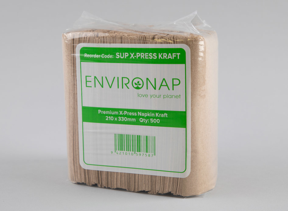 Environap Kraft Interleaved Napkin - Coastal