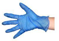 Vinyl Gloves Blue MEDIUM PowderFree - NZ Janitor