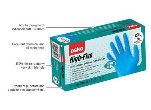 Hi-Risk Nitrile Gloves LARGE - Esko