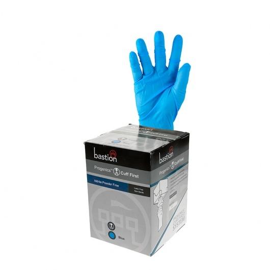 Progenics Nitrile P/F Blue Gloves Small - UniPak