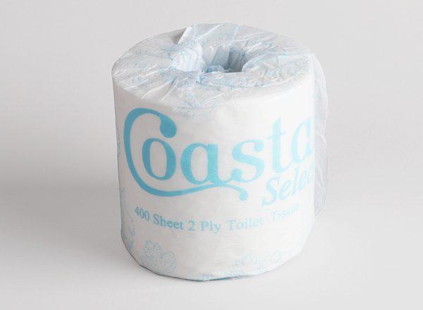 Toilet rolls 2ply 400sh - Coastal brand