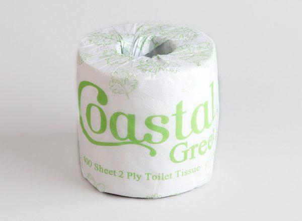 Toilet Rolls 2ply 400sheet recycled - Coastal brand