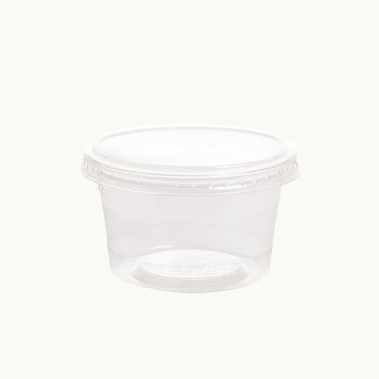 Flat Lid No Hole PLA 200ml Cold Cup - Ecoware