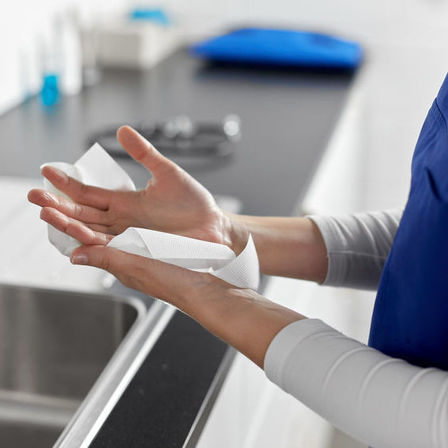 The importance of drying hands after washing