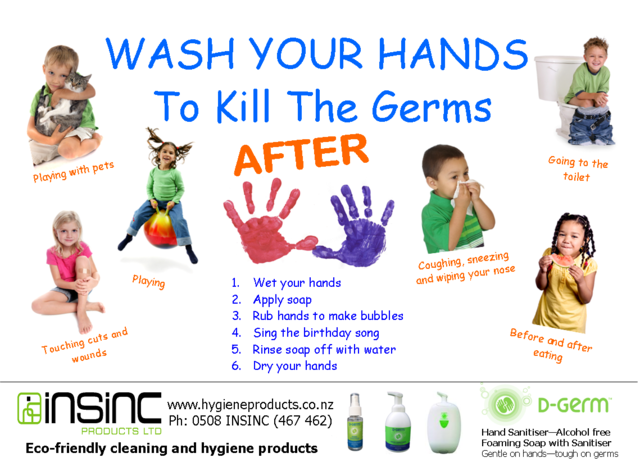 Poster Download For Hand Washing For Children