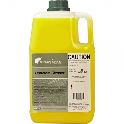 Concrete cleaner green rhino gr grf5 5 insinc for Spray on concrete cleaner